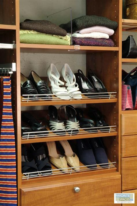 angled shoe shelves