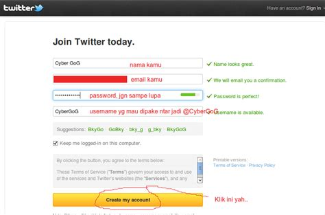 cara membuat twitter beserta gambarnya cara membuat twitter cyber gog