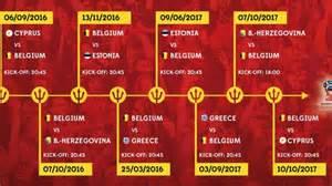 Cyprus Kalendar 2018 Rode Duivels Openen 233 N Eindigen Wk Voorronde Tegen Cyprus