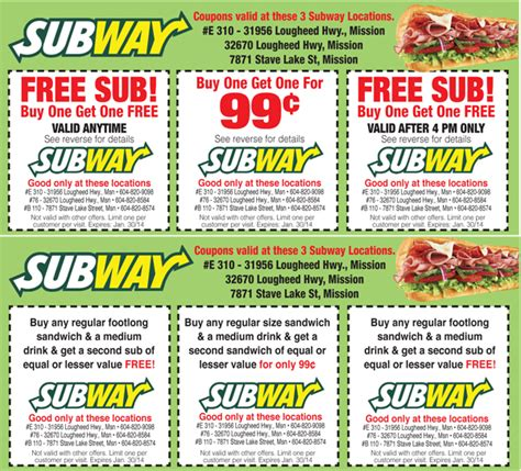 printable subway coupons canada how can you save with subway coupons online subway coupons