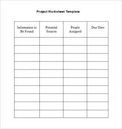 6 project worksheet templates free word documents