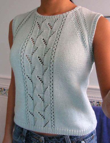 Tank Top Pull Original tops tanks tees free knitting patterns the original