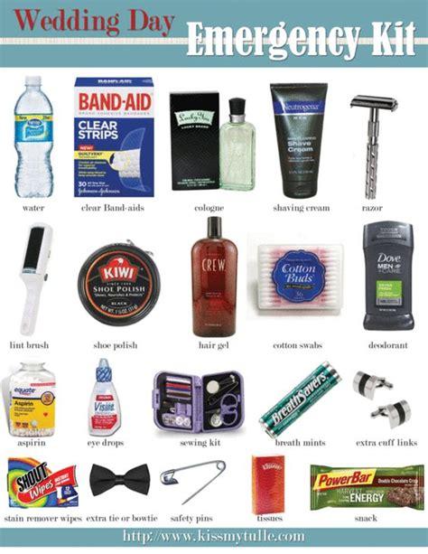 wedding day emergency kit checklist groom a wedding day emergency kit checklist for the http