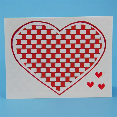 paper weaving template how to make woven valentines greeting card ideas
