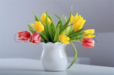 Pictures Of Tulips In Vases by Home Appliance Beautiful Tulips In Vase On The Table