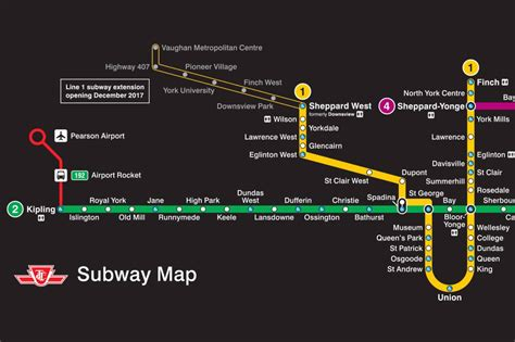 toronto subway map the ttc shows new subway route map