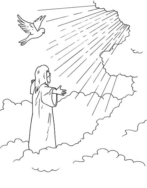 bible coloring pages jesus ascension jesus ascending into heaven luke 24 acts 1 coloring