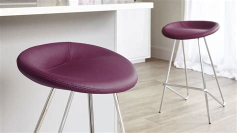 Purple Counter Height Bar Stools by Modern Fixed Height Bar Stool Seat Chrome Legs Uk