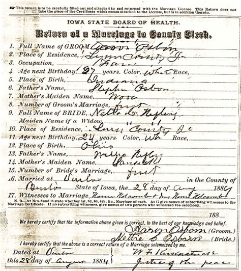 Multnomah Marriage Records Benton County Iowa Researcher Contributed Marriage Records