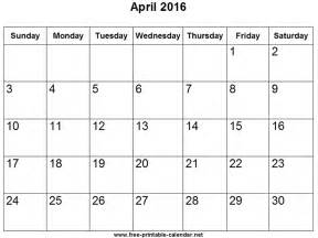 Calendar For April April Calendar