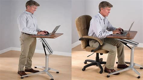 Sit To Stand Workstation Height Adjustable Sitting Adjustable Desk Standing Sitting