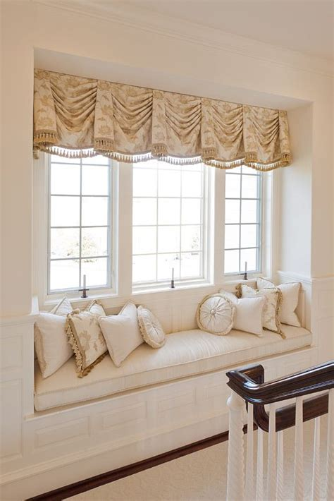 window seat curtains window treatment window dressing pinterest