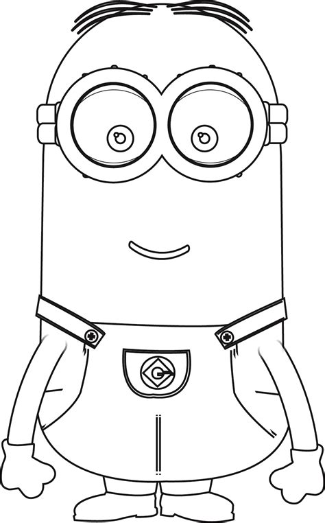 coloring page of a minion minions kevin perfect coloring page wecoloringpage