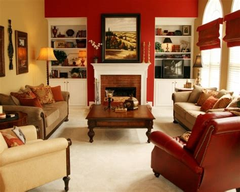 Sherwin Williams Irish Cream red accent wall for the home pinterest