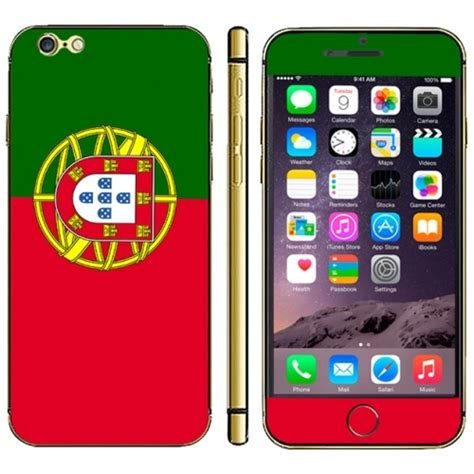 3d Sticker Iphone 6 by Portuguese Flag Pattern Mobile Phone Decal Stickers For