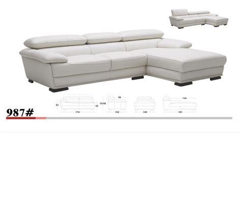 full leather sectional sofa dreamfurniture com k 987 white full leather sectional sofa
