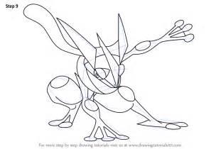 Step by step how to draw greninja from pokemon drawingtutorials101