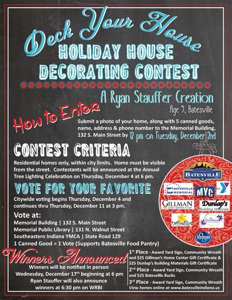 christmas contest voting flyer city of batesville indiana established 1852