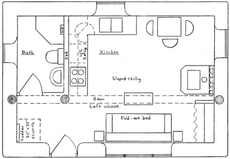 Cabin Layout Plans Wilderness Cabin Plan