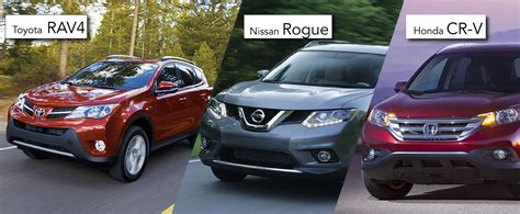 toyota nissan honda the toyota rav4 vs the honda cr v and the nissan rogue