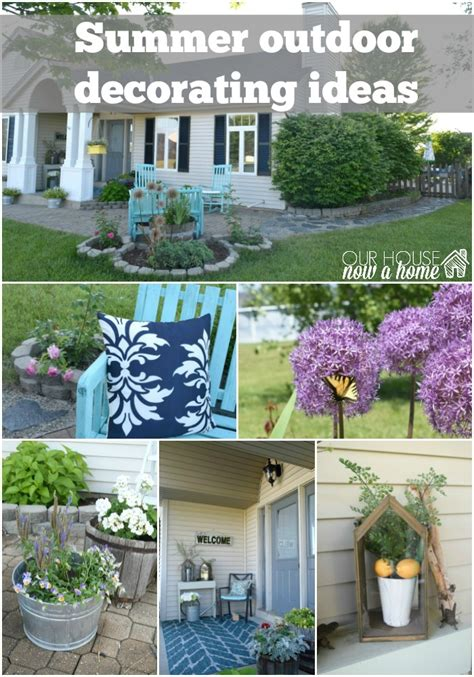 summer backyard decorating ideas adding curb appeal how to paint shutters and front door