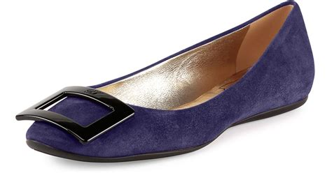 Flat Shoes Blue S30102 1 roger vivier gomette patent leather flats in blue lyst