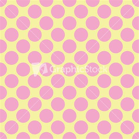 yellow with pink polka dots black polka dots pattern on a pink background stock image