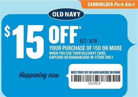 Can You Use Old Navy Gift Card At Gap - old navy 15 off in store coupon