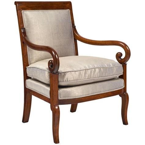period armchairs 19th century french restauration period walnut armchair