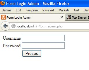 cara membuat form login di xp php simple code