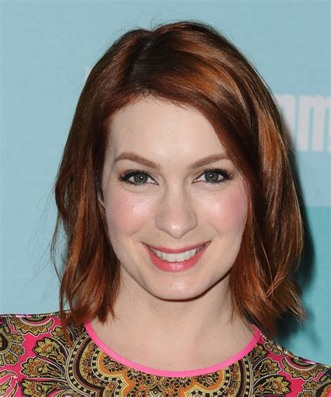 what is felicia days natural hair color felicia day medium straight casual hairstyle medium red