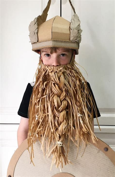 cardboard viking viking en carton cardboard costume