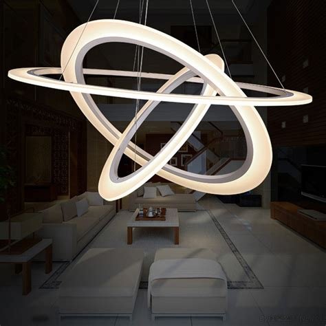 luminaire 3 suspensions aliexpress buy modern 3 ring led pendant l for kitchen dimmable suspension luminaire