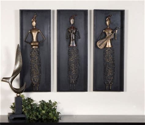 uttermost 4012 indian musicians s 3 alternative wall - Modern Wall Decor Accessories