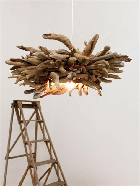 Chandelier 12 Lights Lampe Bois Flott 233 Lampadaire Et Suspension Par La Nature
