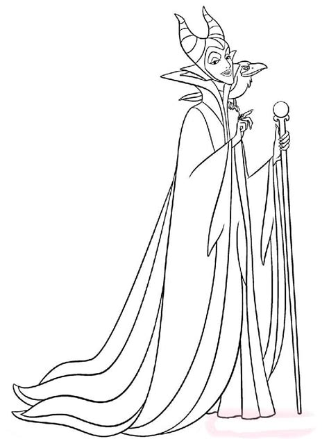 maleficent coloring pages  kids  printable