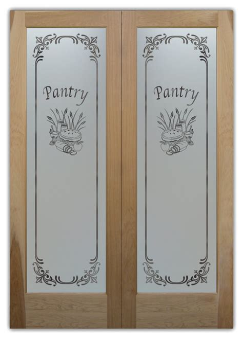 Frosted Glass Pantry Door by Pantry Doors Apple Pie Hickory Doors Eclectic Pantry