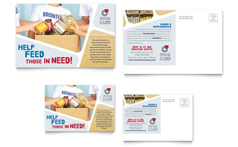 jumbo postcard template food bank volunteer postcard template word publisher