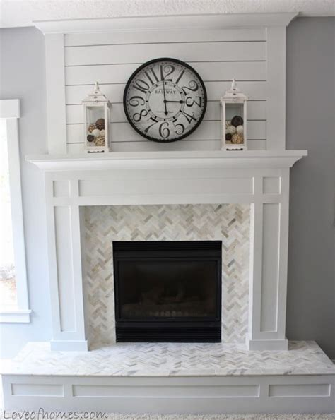 how to replace fireplace tile 6 inspiring paint projects beautiful fireplaces and herringbone tile pattern