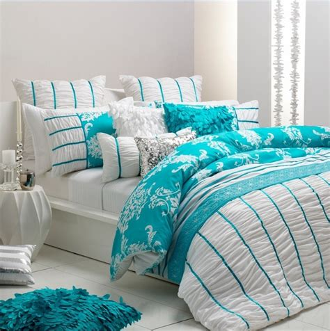 aqua themed bedroom ultima talia aqua quilt cover set beach theme decor