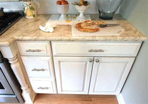 Almond Cabinets by Toasted Almond Granite Kitchen