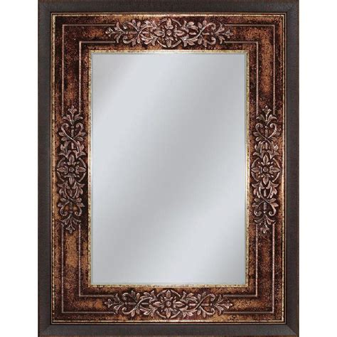 cherry mirrors bathroom deco mirror genoa 27 in x 33 in mirror in bronze cherry