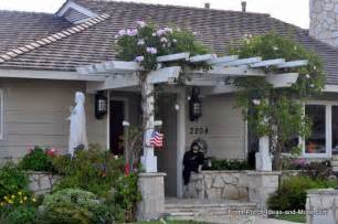 Front Porch With Pergola by Beautiful Rancho Palos Verdes In Southern California