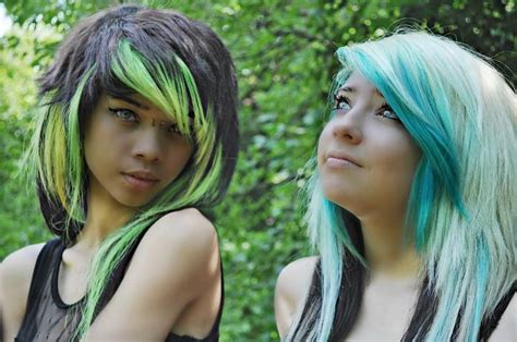 hairstyles to hide dyed tips lime green and blue ombre dip dyed alternative hair hair