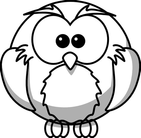 printable outline of an owl owl outline clip art at clker com vector clip art online