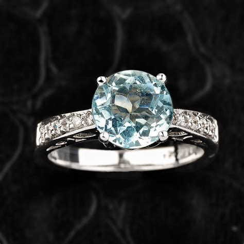 aquamarine ring gold aquamarine engagement ring