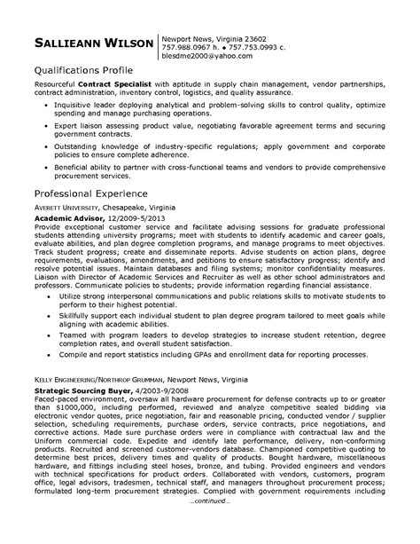 sle contract specialist resume best photos of government contractor resume exles