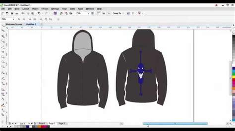 tutorial desain jaket cara membuat desain jaket youtube