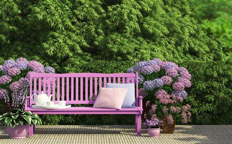 bench in garden 5 ways to decorate with a garden bench ebay