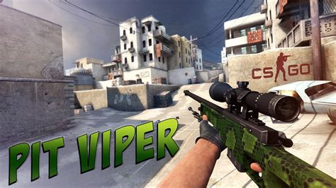 Jual Csgo Item Skin Italy Awp Pit Viper Restricted cs go awp pit viper gameplay doovi